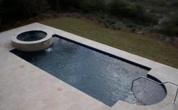 contemporary-pool-15 -Geometric pool with raised spa