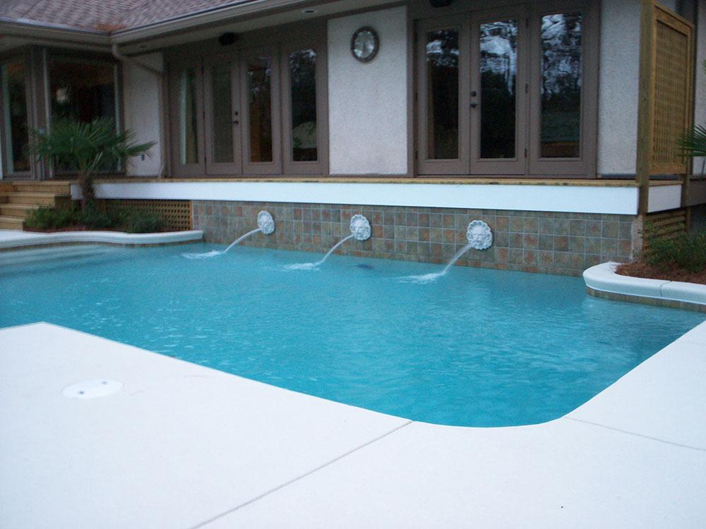 Customized Pool Water Features In Savannah Charleston Bluffton
