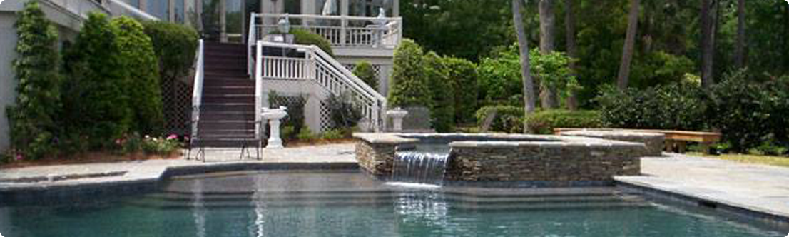 Charleston pools spa photos hilton head pools and spa for Year round pool residential