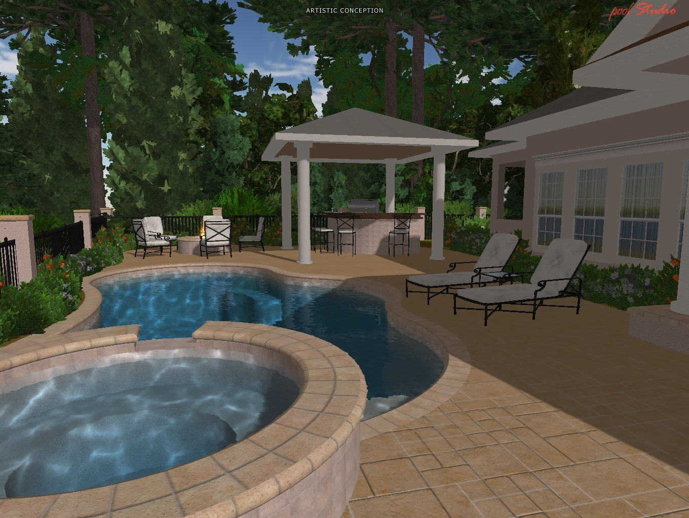 hilton head virtual pool design savannah 3d pool design